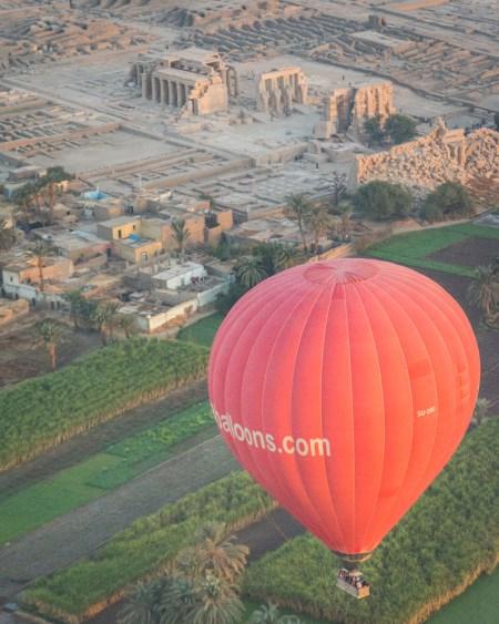 Ramesseum from a Hot Air Balloons, Luxor, Egypt by Wandering Wheatleys