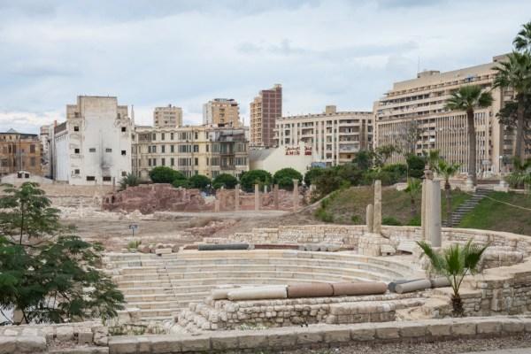Roman Amphitheater, Alexandria, Egypt by Wandering Wheatleys