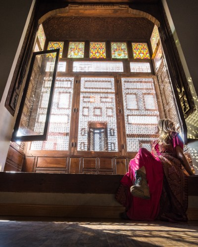 Stained glass windows at the Coptic Mseum, Cairo, Egypt by Wandering Wheatleys