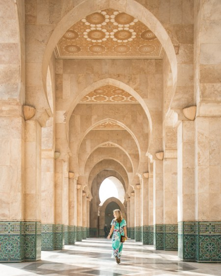 Archways of Hassan II Mosque, Casablanca, Morocco by Wandering Wheatleys