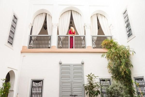 Courtyard of Riad Ariha, Marrakech, Morocco by Wandering Wheatleys