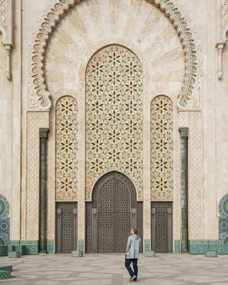 Massive Doors of Hassan II Mosque, Casablanca, Morocco by Wandering Wheatleys