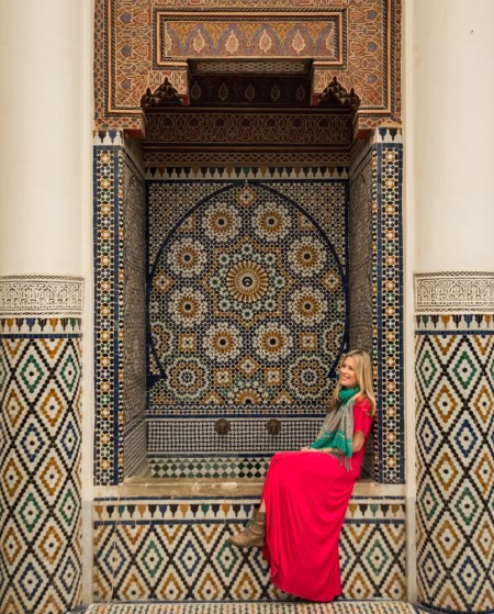 Fountain at the Marrakech Museum, Morocco by Wandering Wheatleys