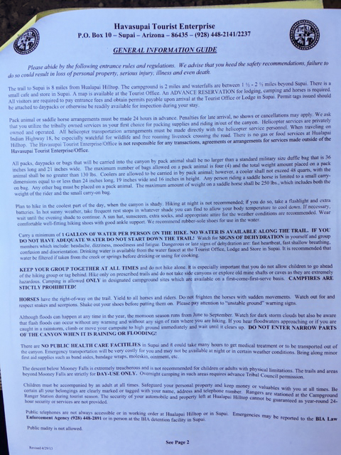 Havasu Falls General Information - Page 2 by Wandering Wheatleys