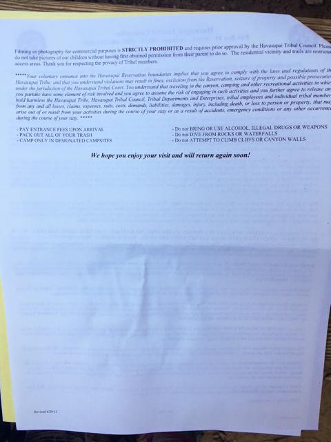 Havasu Falls General Information - Page 3 by Wandering Wheatleys