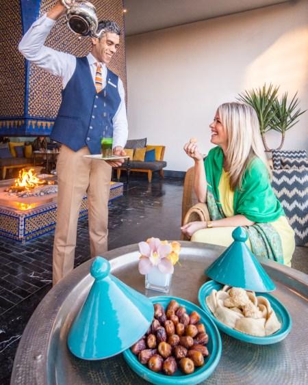 Mint Tea Service, Four Seasons Hotel, Casablanca, Morocco by Wandering Wheatleys