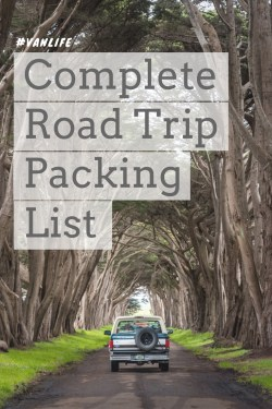 Complete Road Trip Packing List by Wandering Wheatleys