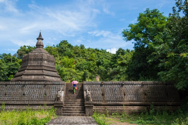Exploring stupas in Mrauk U, Myanmar by Wandering Wheatleys