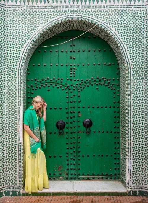 Green Mosque Doorway in Chefchaouen, Morocco by Wandering Wheatleys