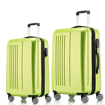 Fochier Luggage 2 Piece Set Expandable Spinner Suitcase