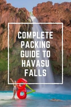 Havasu Falls Packing List by Wandering Wheatleys