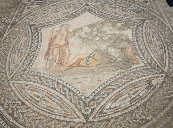Mosaic at the House of the Rider, Volubilis, Morocco