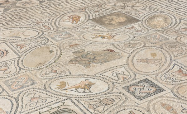 Mosaic at the Labors of Hercules House, Volubilis, Morocco