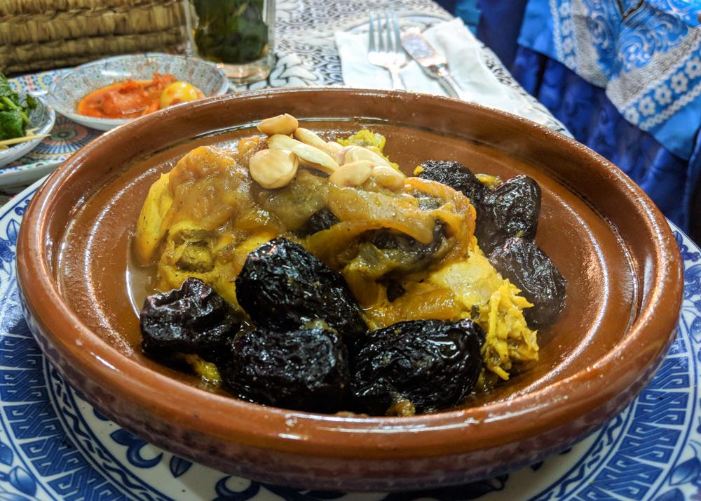 What to Eat in Morocco: Chicken Tajine with Prunes by Wandering Wheatleys
