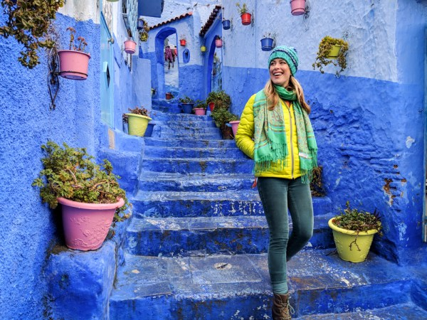 Winter jacket necessary in February, Chefchaouen, Morocco by Wandering Wheatleys