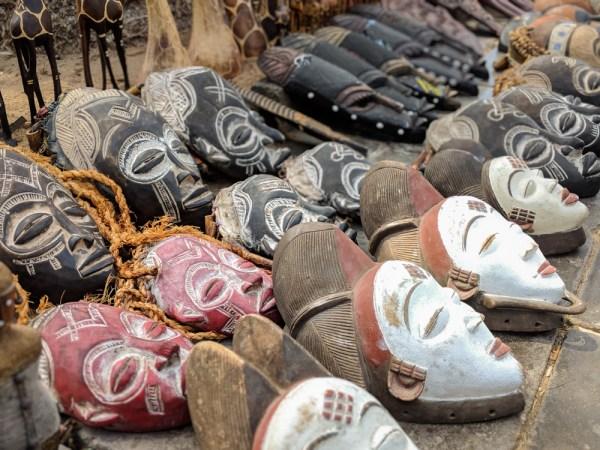 African Masks in Swakopmund, Namibia by Wandering Wheatleys