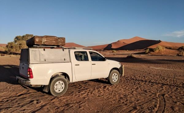 Driving in Sossusvlei, Namibia by Wandering Wheatleys