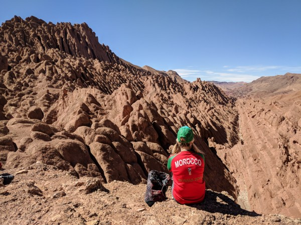 Overlook of Monkey Fingers Canyon, Dades Gorge, Morocco by Wandering Wheatleys