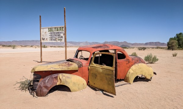 Rusting Car in Solitaire, Namibia by Wandering Wheatleys