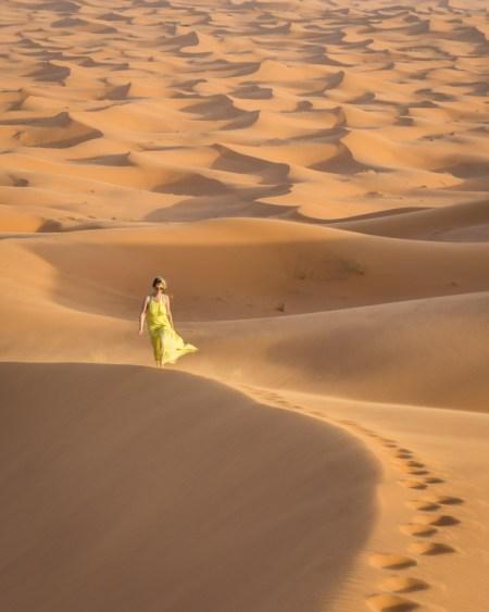 Sand Dunes in the Sahara Desert, Merzouga, Morocco by Wandering Wheatleys