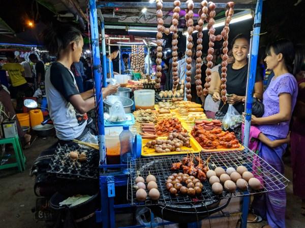 Night Market in Hpa-an, Myanmar by Wandering Wheatleys