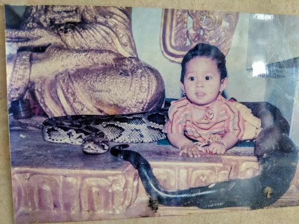 Old Photo in the Snake Pagoda, Mandalay, Myanmar