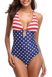 Ridiculous Women's Swimsuits: American Flag One Piece