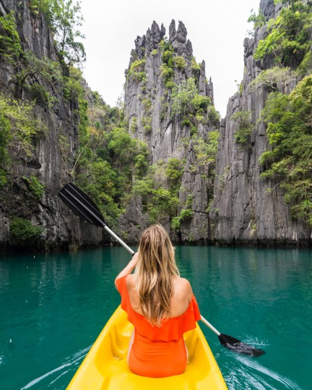 Kayaking in the Small Lagoon, El Nido, Philippines