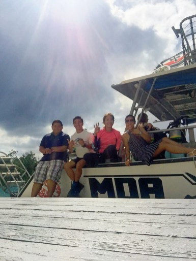 Team Arte: Haven, Angel, ME, March (Carmel not in photo) on MDA boat