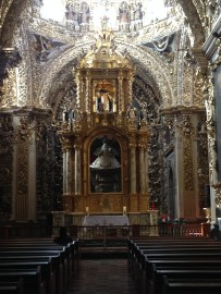 Inside a beautiful cathedral