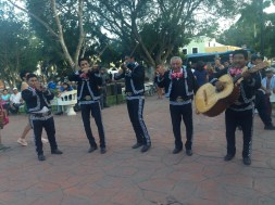 Mariachi band in the main square.