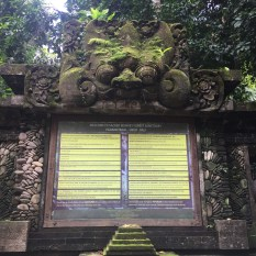 Rules for the Ubud Monkey Forest