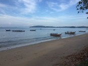 Longboats ready to jet out to Railey Beach off of Ao Nang Island