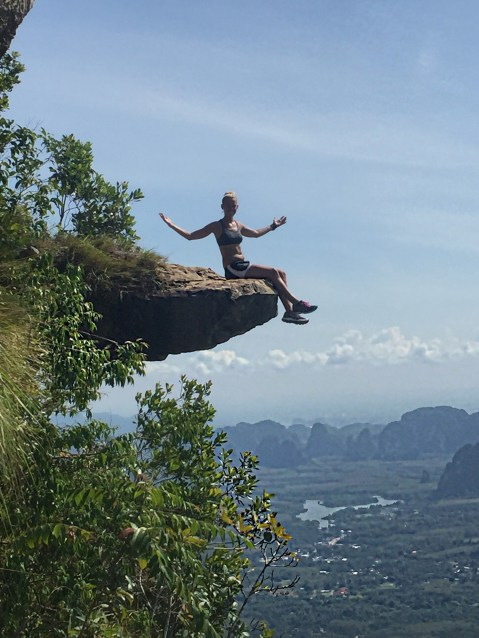 On top of the infamous rock that overlooks the Andaman Sea