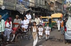 Kids walking to school.