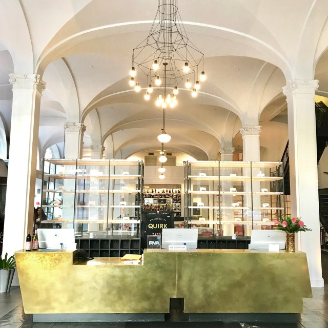 Quirk hotel front desk