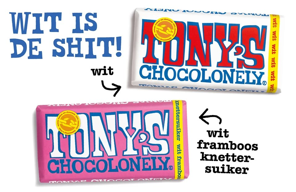 Tony's Chocolonely witte chocola