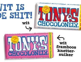 Tony's Chocolonely witte chocoladerepen