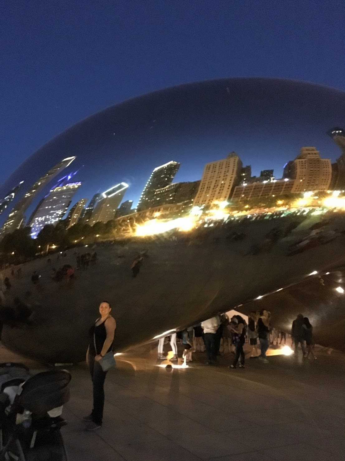 Dani at Cloud Gate