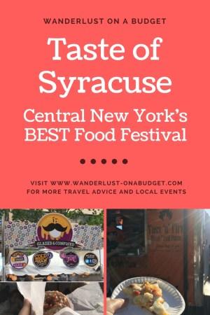Taste of Syracuse - Central New York best food festival - Wanderlust on a Budget - www.wanderlust-onabudget.com