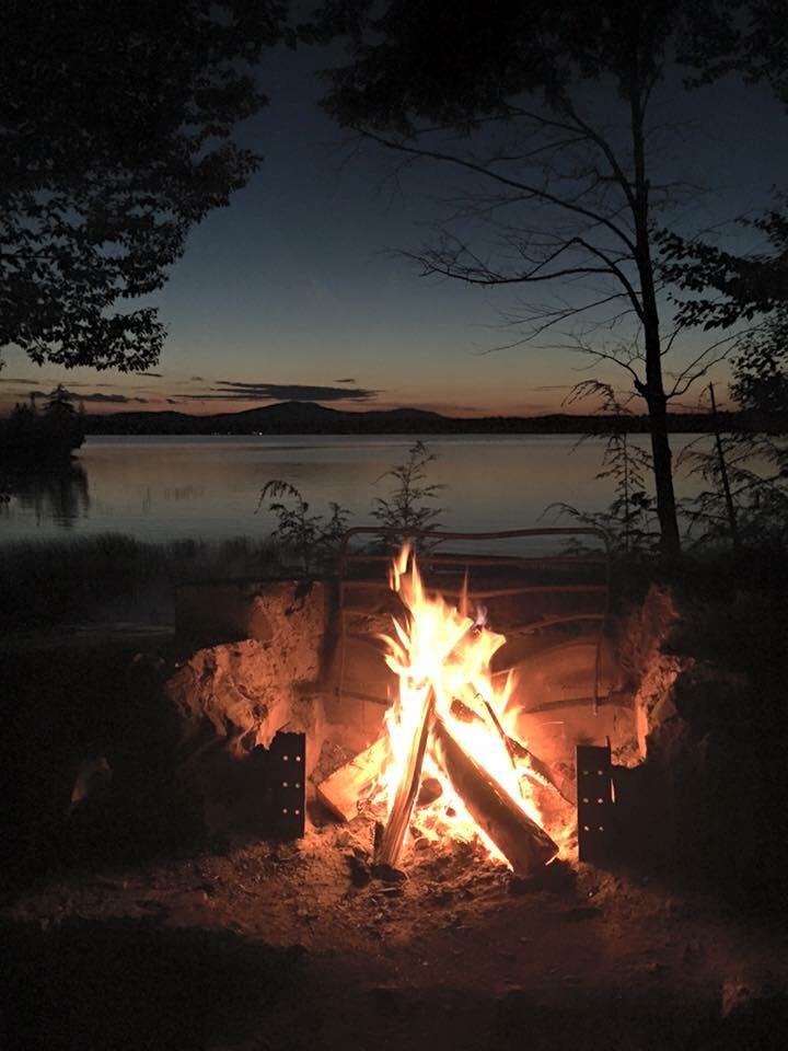 Campfire at Raquette Lake
