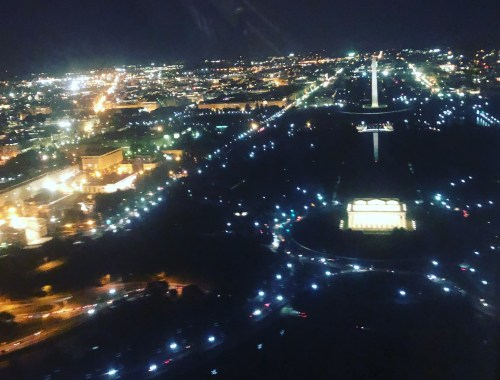 DC Monuments from Plane