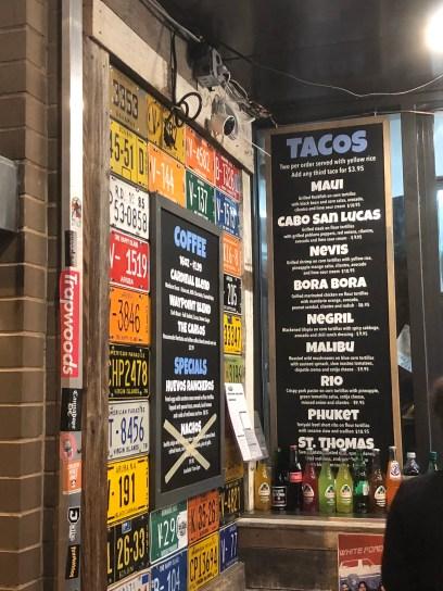 Surfside Taco Stand Menu