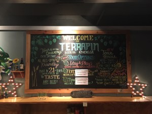 Terrapin Brewery Menu 1