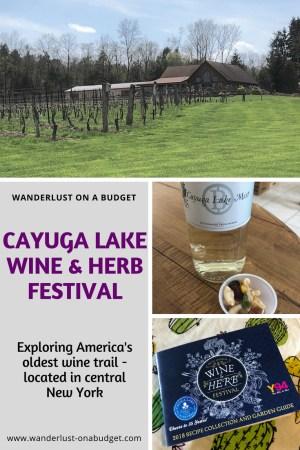 Cayuga Lake Wine & Herb Festival - wine trail - New York - things to do in New York - winery - vineyard - www.wanderlust-onabudget.com