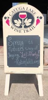 Cayuga Lake - Wine Trail Quote