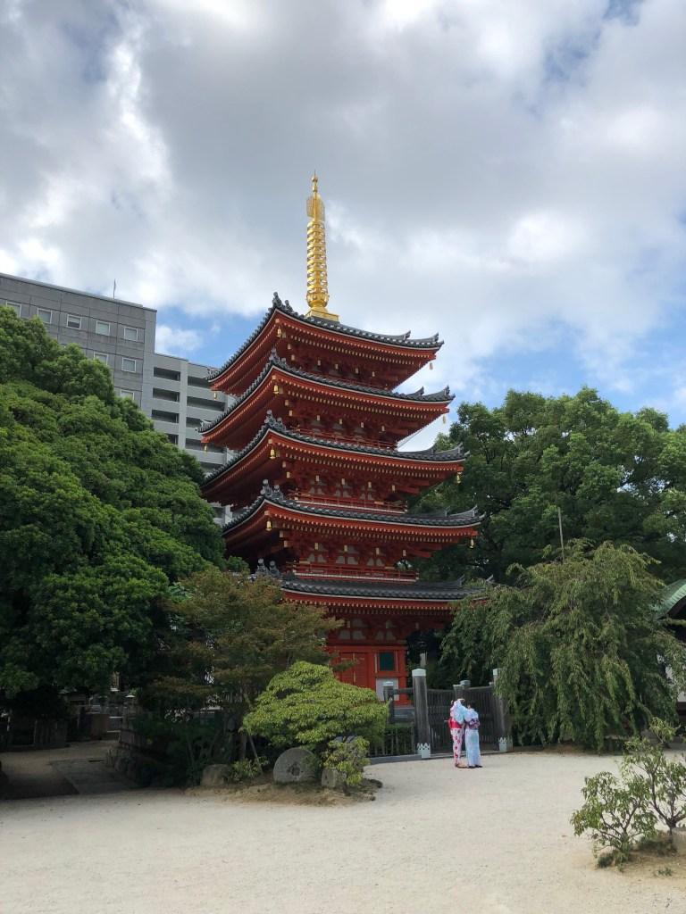 Japanese Temple in Fukuoka