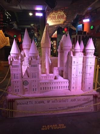 Hogwarts Castle in matchsticks