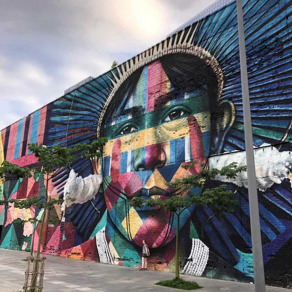 Olympic Boulevard Kobra Mural Brazil 4