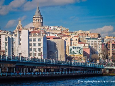 Galata Bridge in Istanbul - Photo by Sage Scott, the Everyday Wanderer